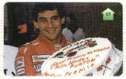 Telephone Card - Ayrton Senna #02 - �5 'phone card (Limited edition)
