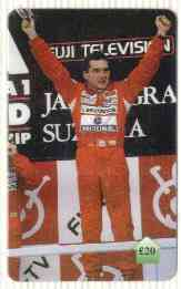 Telephone Card - Ayrton Senna #05 - �20 'phone card (Limited edition)