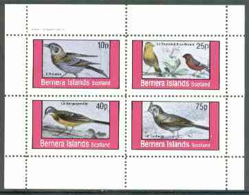 Bernera 1982 Birds #18 (Names in French #03) perf  set of 4 values (10p & 75p) unmounted mint
