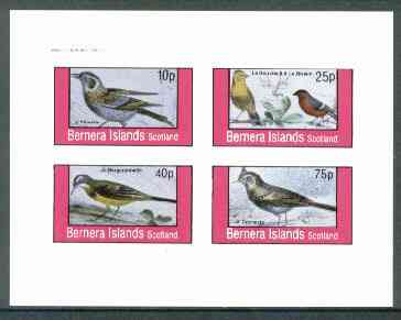 Bernera 1982 Birds #18 (Names in French #03) imperf  set of 4 values (10p & 75p) unmounted mint
