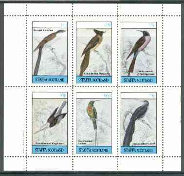 Staffa 1982 Birds #54 (Sunbird, Bee Eater, etc) perf set of 6 values (15p to 75p) unmounted mint