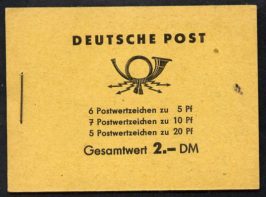 Booklet - Germany - East 1960 Five Year Plan 2 Dm booklet complete and fine SG ESB3)