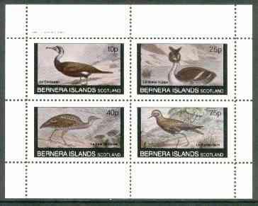 Bernera 1982 Birds #23 (Cormorant, Grebe etc) perf  set of 4 values (10p to 75p) unmounted mint