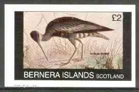 Bernera 1982 Birds #23 (La Caurale) imperf souvenir sheet (�1 value) unmounted mint