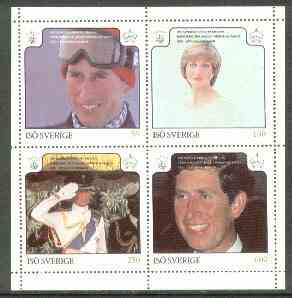 Iso - Sweden 1981 Royal Wedding perf set of 4 unmounted mint