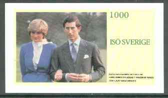 Iso - Sweden 1981 Royal Wedding imperf deluxe sheet (1000 value) unmounted mint