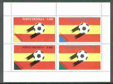 Eritrea 1982 Football World Cup perf set of 4 values unmounted mint