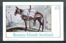 Bernera 1982 The Mule imperf deluxe sheet (�2 value) unmounted mint