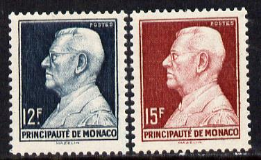 Monaco 1949 Prince Louis 12f & 15f (SG 395-6)