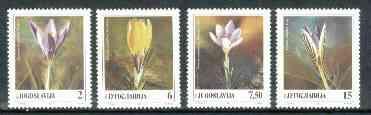 Yugoslavia 1991 Crocuses unmounted mint set of 4, SG 2683-86