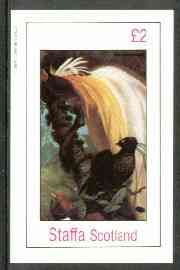 Staffa 1982 Birds #81 (Bird of Paradise) imperf deluxe sheet (�2 value) unmounted mint