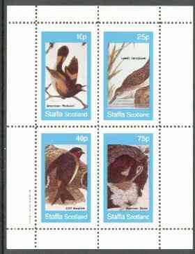 Staffa 1982 Birds #57 (Redstart, Sandpiper, etc) perf set of 4 values (10p to 75p) unmounted mint