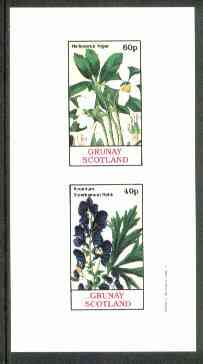 Grunay 1982 Flowers #04 (Helleborus & Aconitum) imperf set of 2 (40p & 60p) unmounted mint