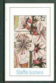 Staffa 1982 Flowers #24 (Amygdalus) imperf deluxe sheet (�2 value) unmounted mint