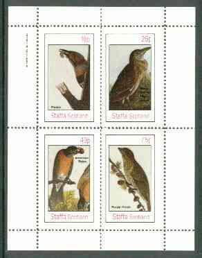 Staffa 1982 Birds #58 (Heron, Robin, etc) perf set of 4 values (10p to 75p) unmounted mint