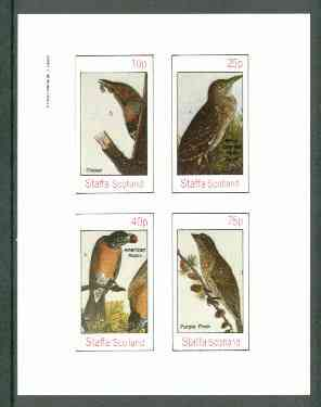 Staffa 1982 Birds #58 (Heron, Robin, etc) imperf set of 4 values (10p to 75p) unmounted mint