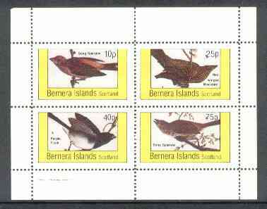Bernera 1982 Birds #24 (Sparrows, Blackbird & Finch) perf  set of 4 values (10p to 75p) unmounted mint