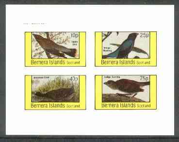Bernera 1982 Birds #26 (Coot, Buntings, etc) imperf  set of 4 values (10p to 75p) unmounted mint