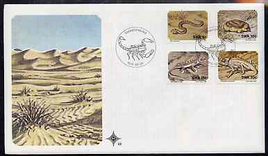 South West Africa 1978 Small Animals set of 4 on unaddressed illustrated cover with special 'Scorpion' first day cancel, SG 311-14