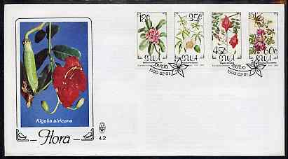 South West Africa 1990 Flora set of 4 on unaddressed illustrated cover with special 'flower' first day cancel, SG 534-37