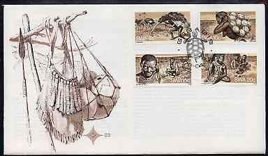 South West Africa 1978 The Bushmen set of 4 on unaddressed illustrated cover with special 'Turtle' first day cancel, SG 315-18