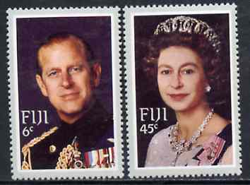Fiji 1982 Royal Visit set of 2 unmounted mint, SG 644-45