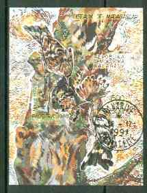 Malagasy Republic 1991 Birds imperf m/sheet (Woodpeckers) fine cto used, stamps on birds     woodpecker