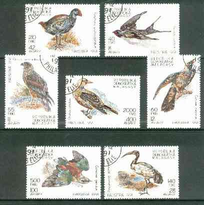 Malagasy Republic 1991 Birds perf set of 7 fine cto used*