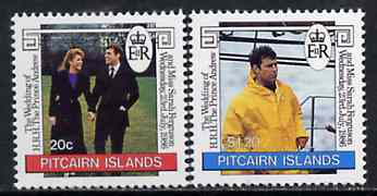 Pitcairn Islands 1986 Royal Wedding set of 2 unmounted mint, SG 290-91