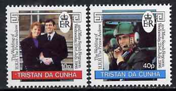 Tristan da Cunha 1986 Royal Wedding set of 2 unmounted mint, SG 415-16