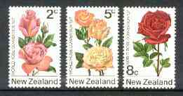 New Zealand 1971 First World Rose Convention set of 3 unmounted mint, SG 967-69*