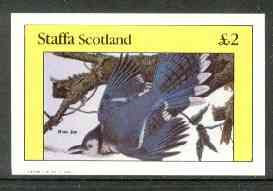 Staffa 1982 Blue Jay imperf deluxe sheet (�2 value) unmounted mint