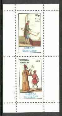 Grunay 1982 Cultures (Mohometan & Bowing Cotton) perf  set of 2 values (40p & 60p) unmounted mint