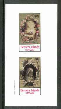 Bernera 1982 Lilies (Buried Lilies & Crowned) imperf  set of 2 values (40p & 60p) unmounted mint