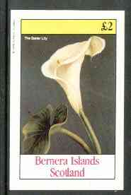 Bernera 1982 Lilies (Easter Lily) imperf deluxe sheet (�2 value) unmounted mint