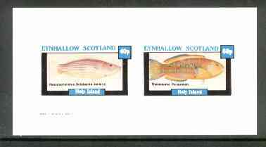 Eynhallow 1982 Fish #05 (Octotaenia jenkins & Thalassoma purpureum) imperf  set of 2 values (40p & 60p) unmounted mint
