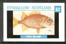 Eynhallow 1982 Fish #05 (Pauu) imperf deluxe sheet (�2 value) unmounted mint
