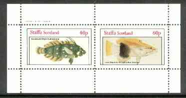 Staffa 1982 Fish #10 (Novaculichtys & Lepidaplois) perf  set of 2 values (40p & 60p) unmounted mint