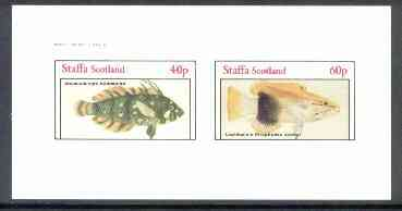 Staffa 1982 Fish #10 (Novaculichtys & Lepidaplois) imperf  set of 2 values (40p & 60p) unmounted mint