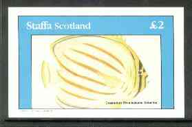 Staffa 1982 Fish #11 (Chaetodon ornatissiums solander) imperf deluxe sheet (�2 value)  unmounted mint
