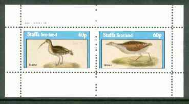 Staffa 1982 Birds #60 (Curlew & Bittern) perf set of 2 values (40p & 60p) unmounted mint