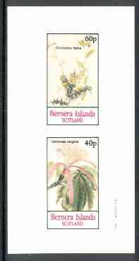 Bernera 1982 Flowers #15 (Chorizema & Carolinea) imperf  set of 2 values (40p & 60p) unmounted mint