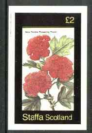 Staffa 1982 Flowers #25 (Flowering Thorn) imperf deluxe sheet (�2 value) unmounted mint