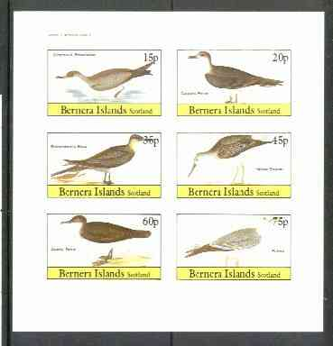 Bernera 1982 Birds #30 (Shearwater, Petrel, Skua etc) imperf  set of 6 values (15p & 75p) unmounted mint