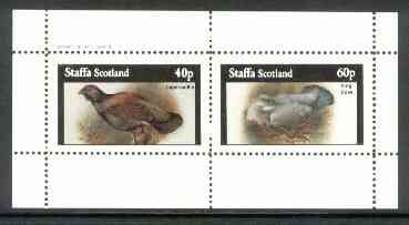 Staffa 1982 Birds #61 (Capercaillie & Ring Dove) perf set of 2 values (40p & 60p) unmounted mint