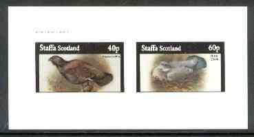 Staffa 1982 Birds #61 (Capercaillie & Ring Dove) imperf set of 2 values (40p & 60p) unmounted mint