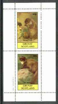 Grunay 1982 Mammals (Water Vole & Weasel, incorrectly inscribed Badger) perf set of 2 unmounted mint