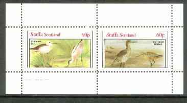 Staffa 1982 Shorebirds (Stilt & Godwit) perf set of 2 values unmounted mint
