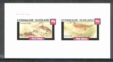Eynhallow 1982 Marshbirds (Snipe & Crake) imperf set of 2 values unmounted mint