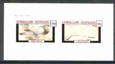 Eynhallow 1982 Birds #21 (Dove & Ptarmigan) imperf  set of 2 values (40p & 60p) unmounted mint